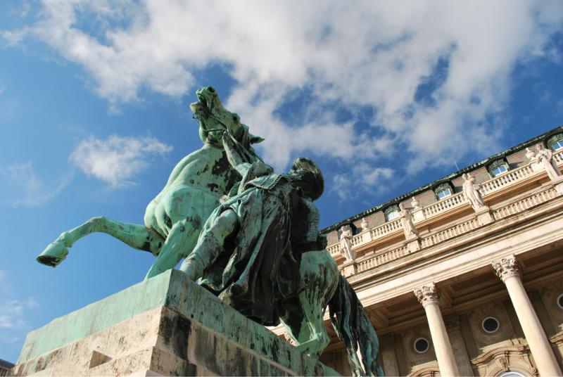 All'interno del castello di Budapest