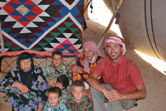 Famiglia beduini con me
