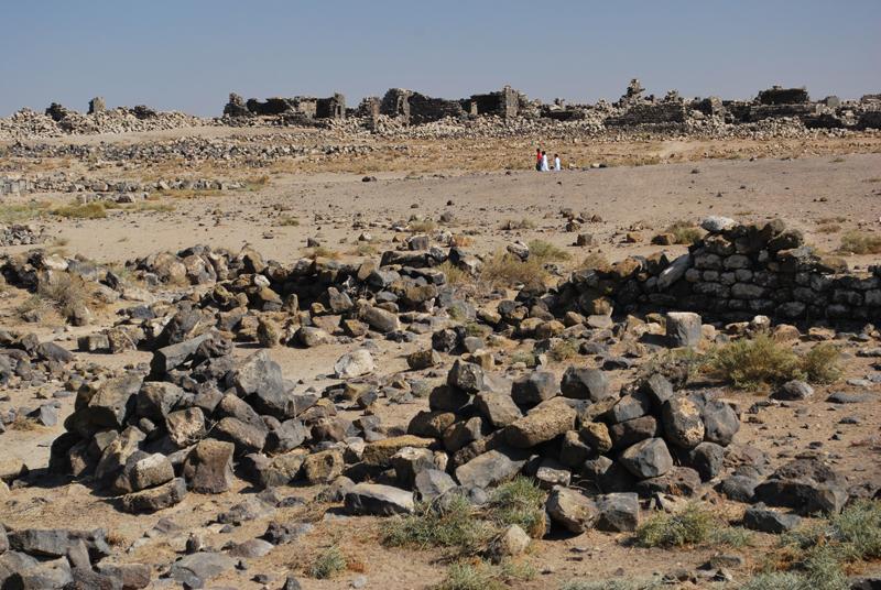 Umm el-Jimal, bambini tra le rovine