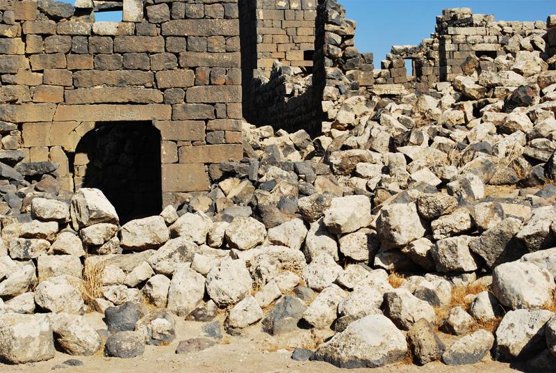 Umm el-Jimal, blocchi di basalto