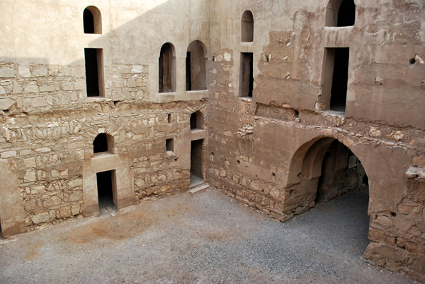 Courtyard of Qasr Kharaneh, Jordan