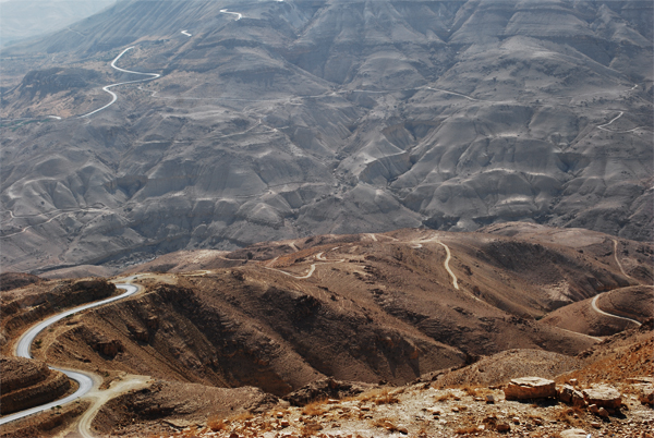 Roads in the mountains, Jordan