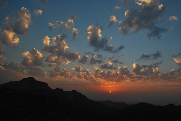 Petra, tramonto